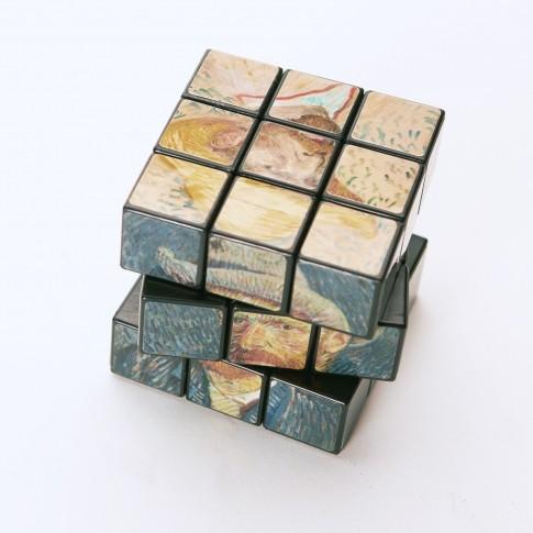 Rubiks cube zelfportret Van Gogh Helvoirt