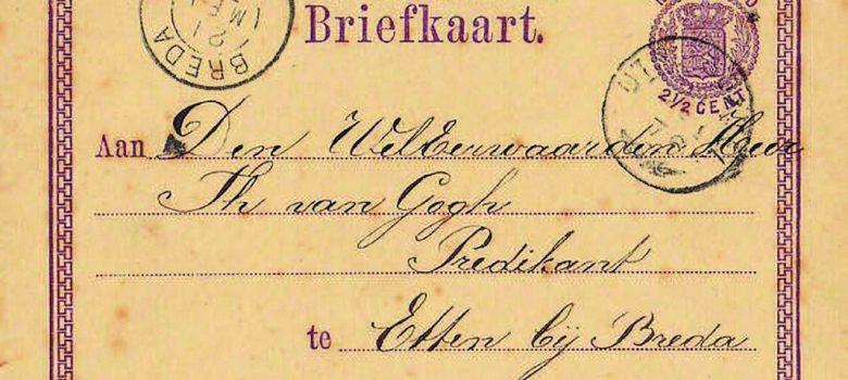 briefkaart vincent van gogh 1876 helvoirt etten